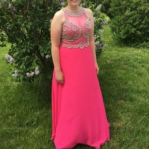 Pink Prom Dress-iNtrigue by Blush-Size 14
